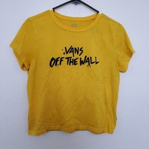 Vans Off The Wall Mustard Yellow Cropped Shirt